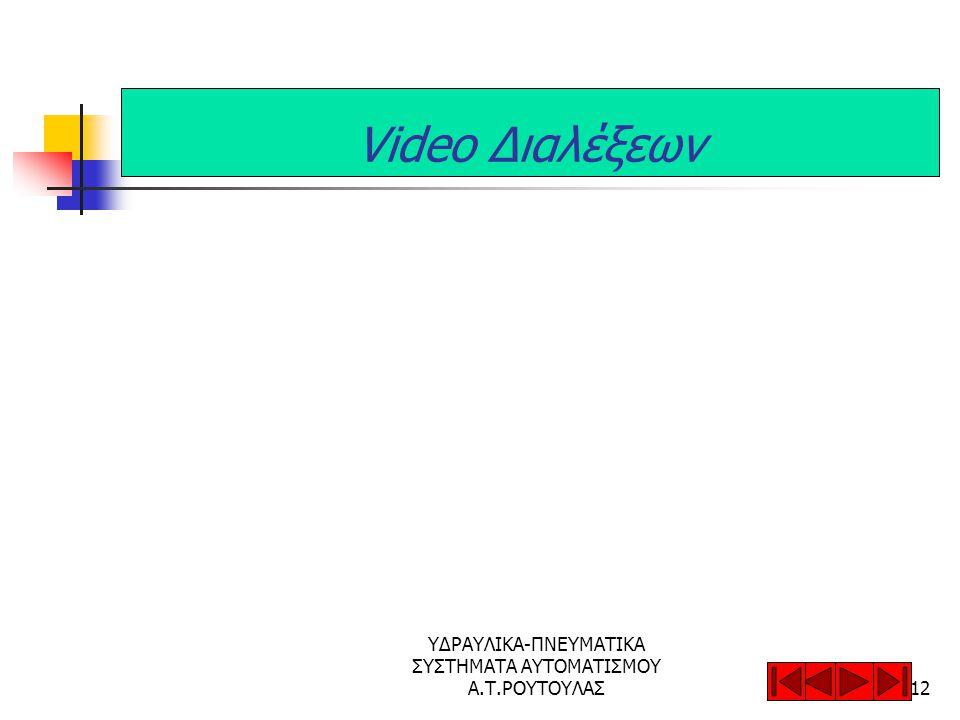 ΥΔΡΑΥΛΙΚΑ-ΠΝΕΥΜΑΤΙΚΑ ΣΥΣΤΗΜΑΤΑ ΑΥΤΟΜΑΤΙΣΜΟΥ Α.Τ.ΡΟΥΤΟΥΛΑΣ