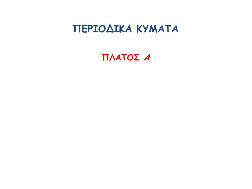 ΠΕΡΙΟΔΙΚΑ ΚΥΜΑΤΑ ΠΛΑΤΟΣ Α