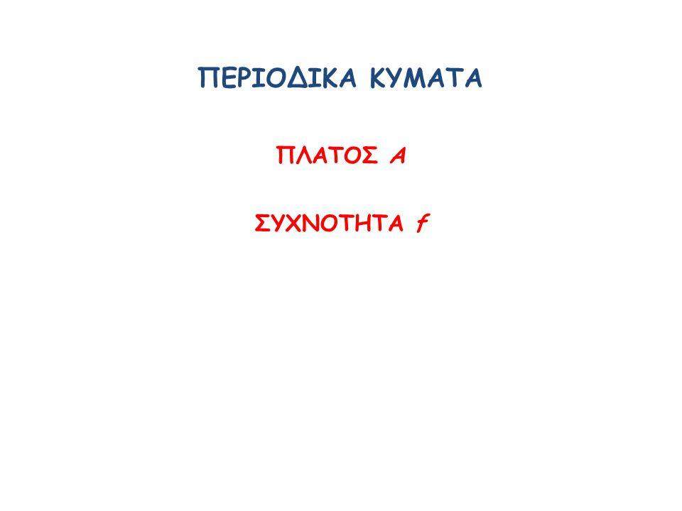 ΠΕΡΙΟΔΙΚΑ ΚΥΜΑΤΑ ΠΛΑΤΟΣ Α ΣΥΧΝΟΤΗΤΑ f