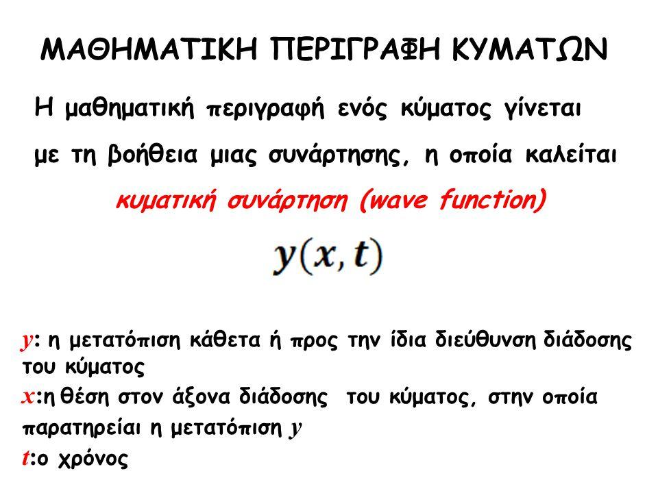 κυματική συνάρτηση (wave function)