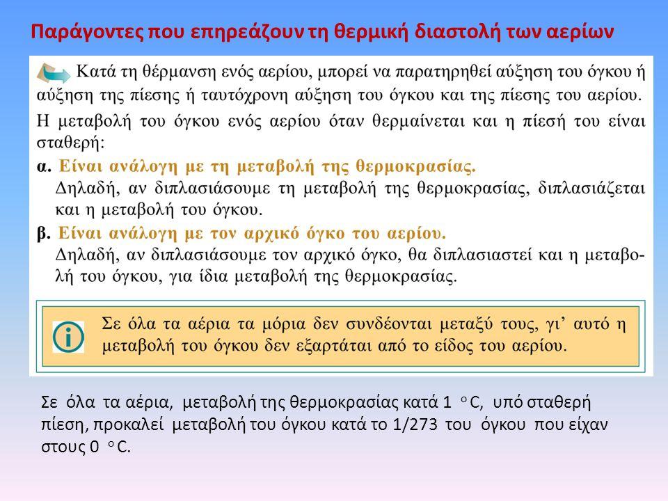 Παράγοντες που επηρεάζουν τη θερμική διαστολή των αερίων