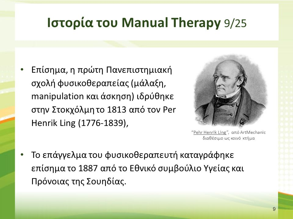 Ιστορία του Manual Therapy 10/25
