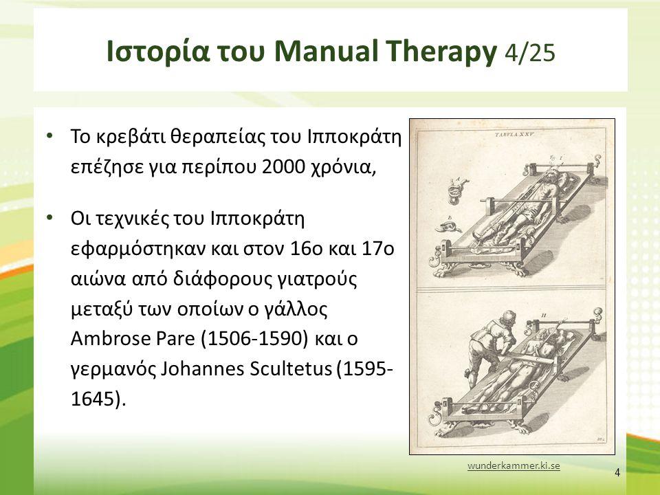 Ιστορία του Manual Therapy 5/25