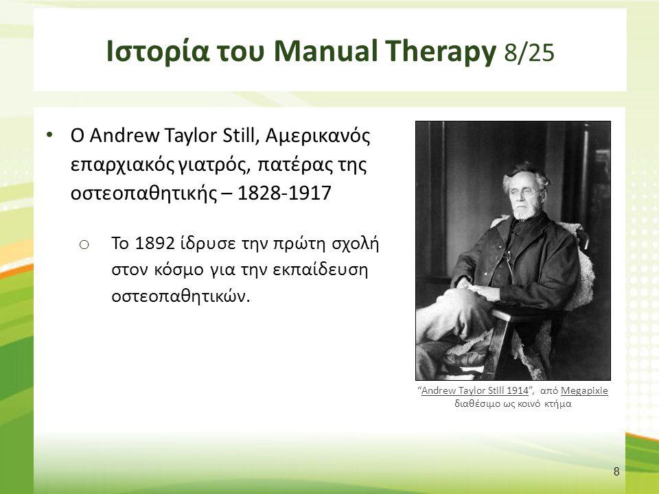 Ιστορία του Manual Therapy 9/25
