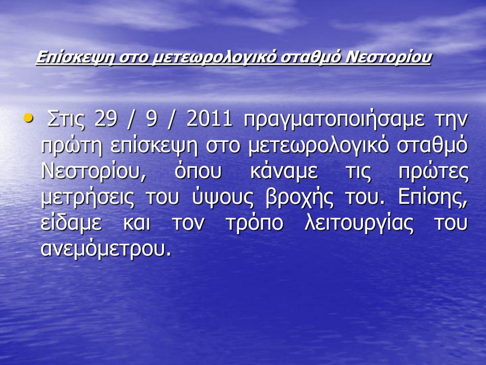 Επίσκεψη στο μετεωρολογικό σταθμό Νεστορίου