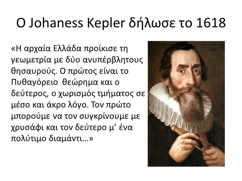 Ο Johaness Kepler δήλωσε το 1618