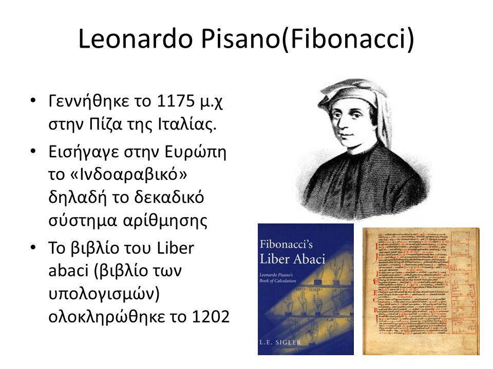 Leonardo Pisano(Fibonacci)