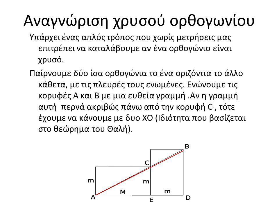 Αναγνώριση χρυσού ορθογωνίου
