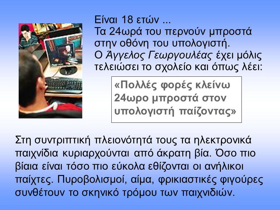 24ωρο μπροστά στον υπολογιστή παίζοντας»