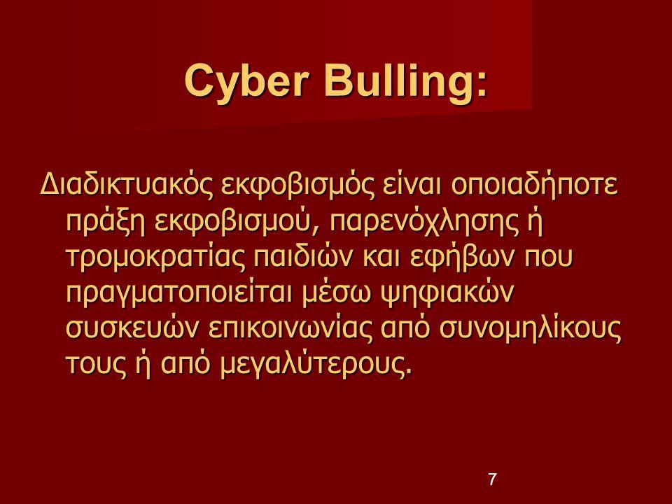 Cyber Bulling: