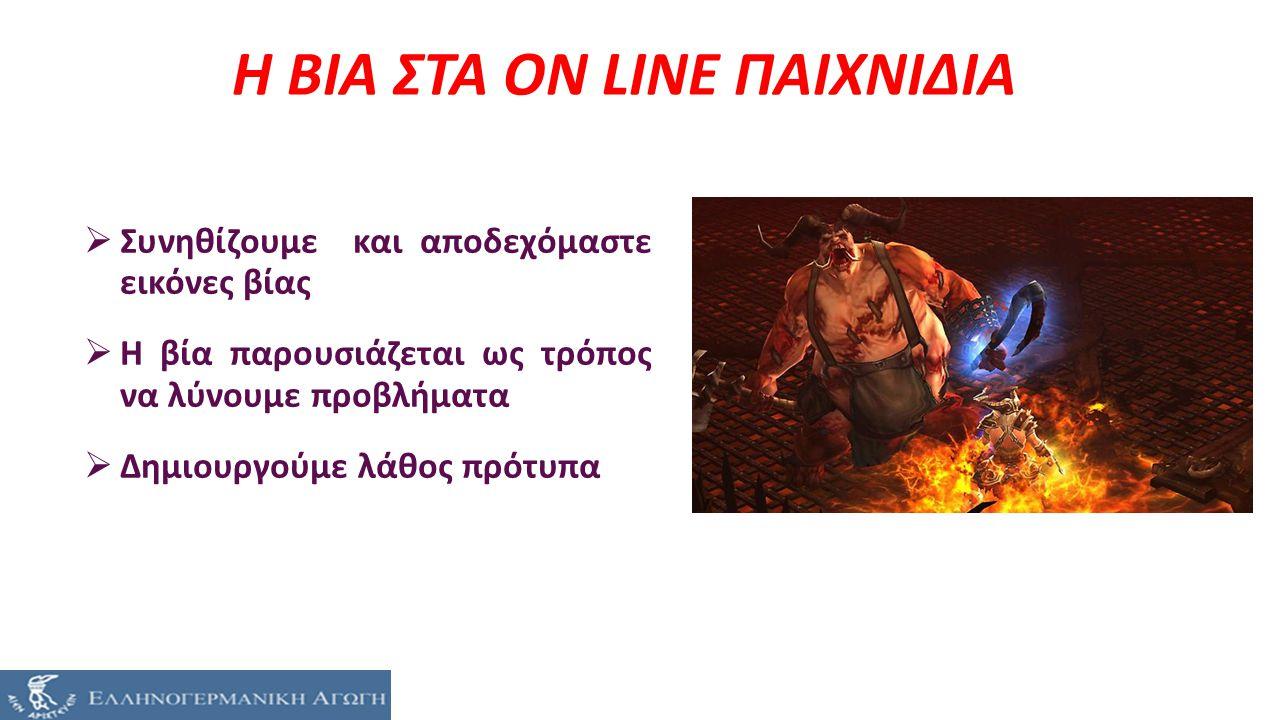 Η ΒΙΑ ΣΤΑ ON LINE ΠΑΙΧΝΙΔΙΑ