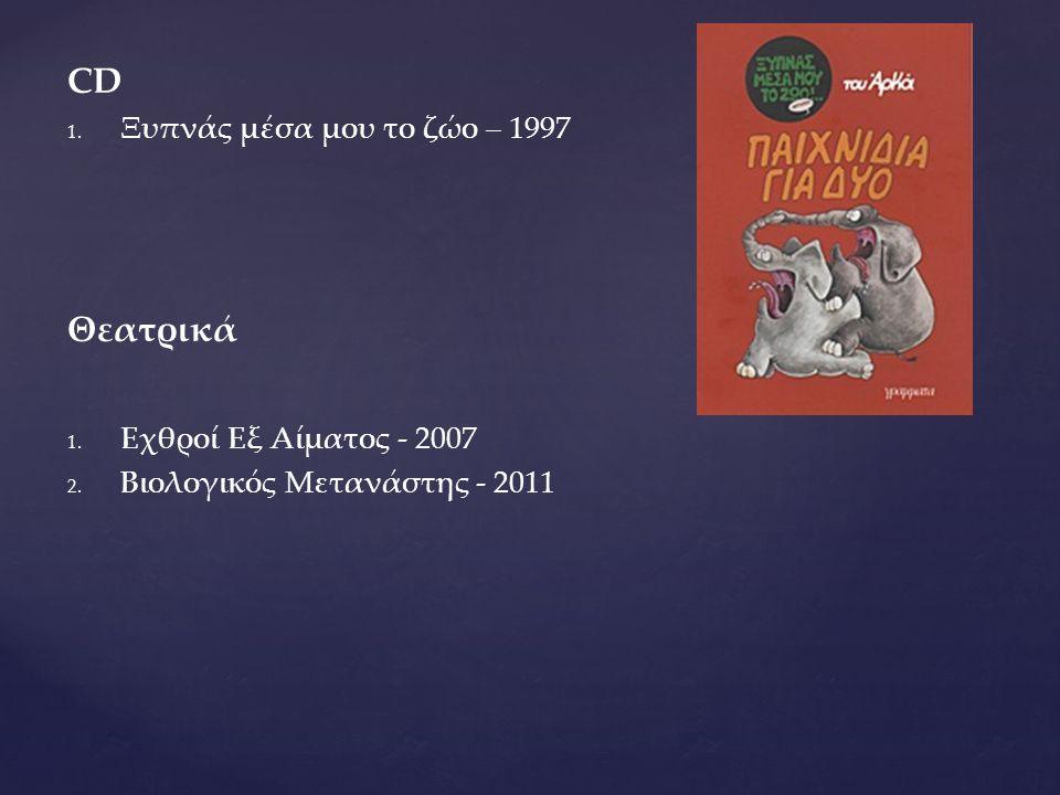 CD Θεατρικά Ξυπνάς μέσα μου το ζώο – 1997 Εχθροί Εξ Αίματος - 2007