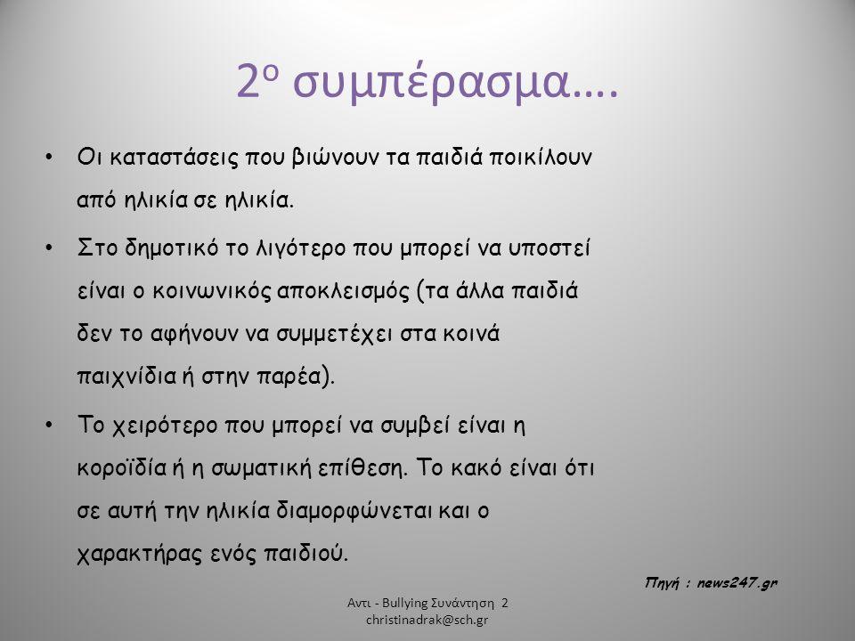 Αντι - Bullying Συνάντηση 2 christinadrak@sch.gr