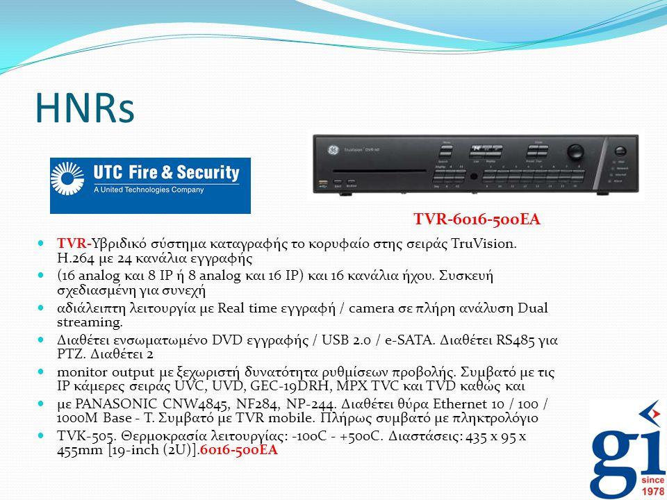 HNRs TVR-6016-500EA. TVR-Υβριδικό σύστημα καταγραφής το κορυφαίο στης σειράς TruVision. H.264 με 24 κανάλια εγγραφής.