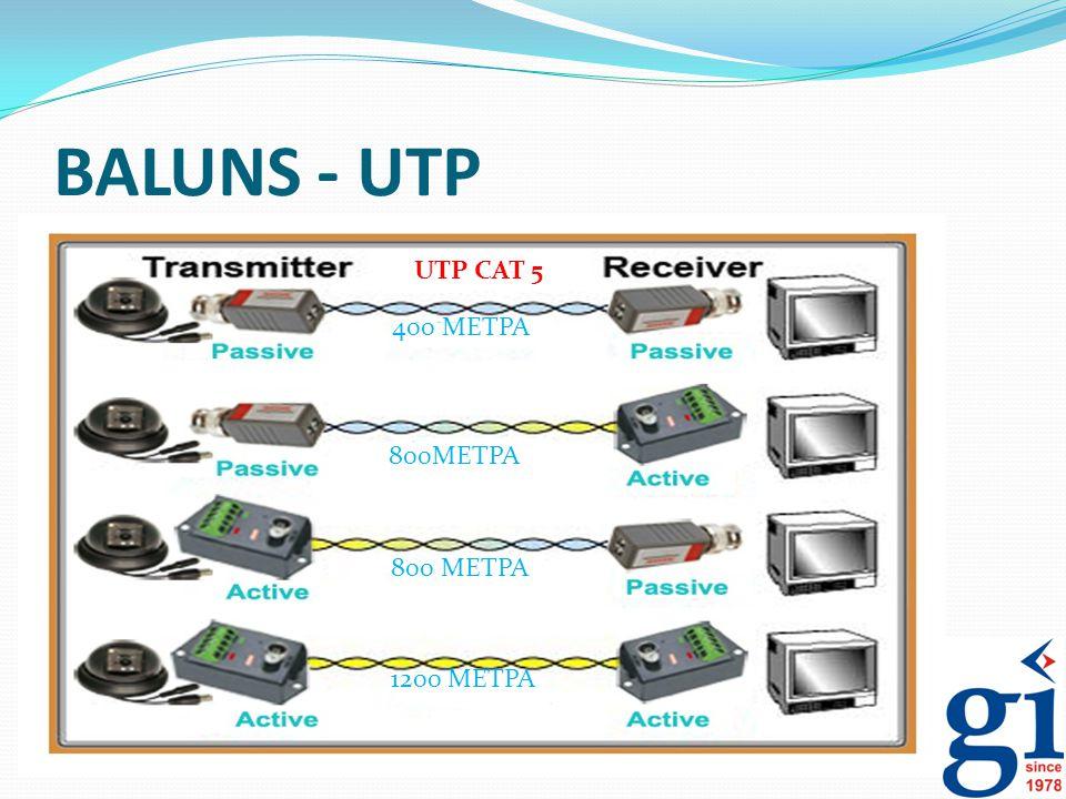 BALUNS - UTP UTP CAT 5 400 ΜΕΤΡΑ 800ΜΕΤΡΑ 800 ΜΕΤΡΑ 1200 ΜΕΤΡΑ