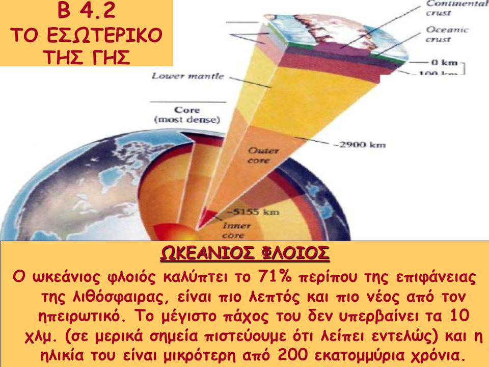 Β 4.2 ΤΟ ΕΣΩΤΕΡΙΚΟ ΤΗΣ ΓΗΣ ΩΚΕΑΝΙΟΣ ΦΛΟΙΟΣ