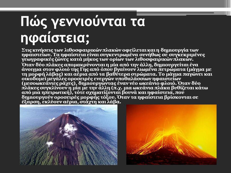 Πώς γεννιούνται τα ηφαίστεια;