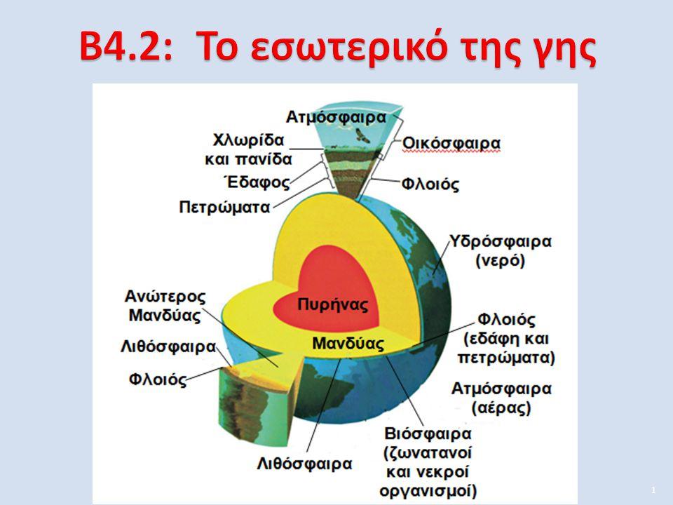 Β4.2: Το εσωτερικό της γης