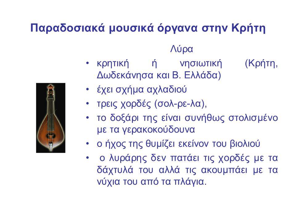 Παραδοσιακά μουσικά όργανα στην Κρήτη