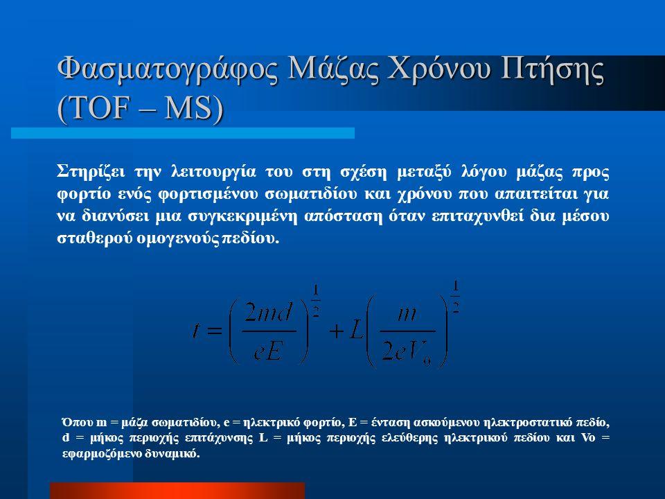 Φασματογράφος Μάζας Χρόνου Πτήσης (TOF – MS)