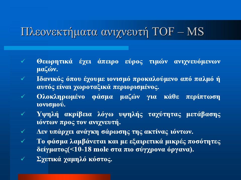 Πλεονεκτήματα ανιχνευτή TOF – MS