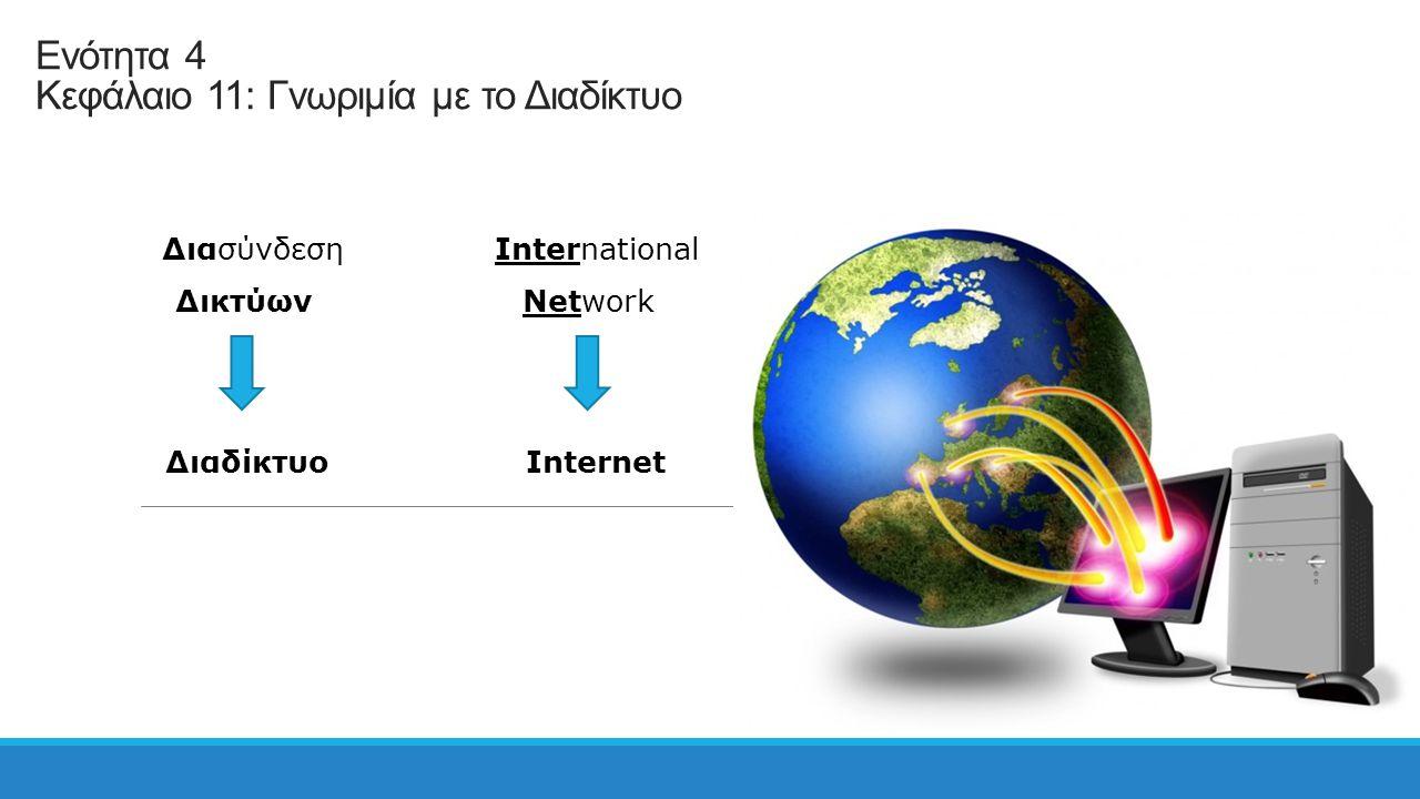 Ενότητα 4 Κεφάλαιο 11: Γνωριμία με το Διαδίκτυο