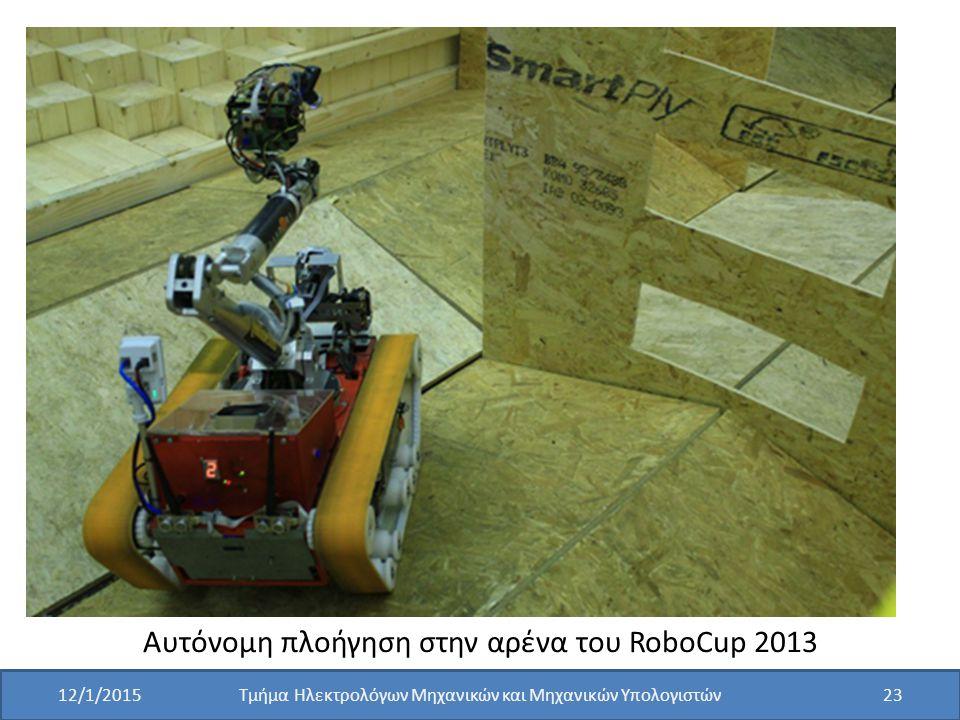 Αυτόνομη πλοήγηση στην αρένα του RoboCup 2013