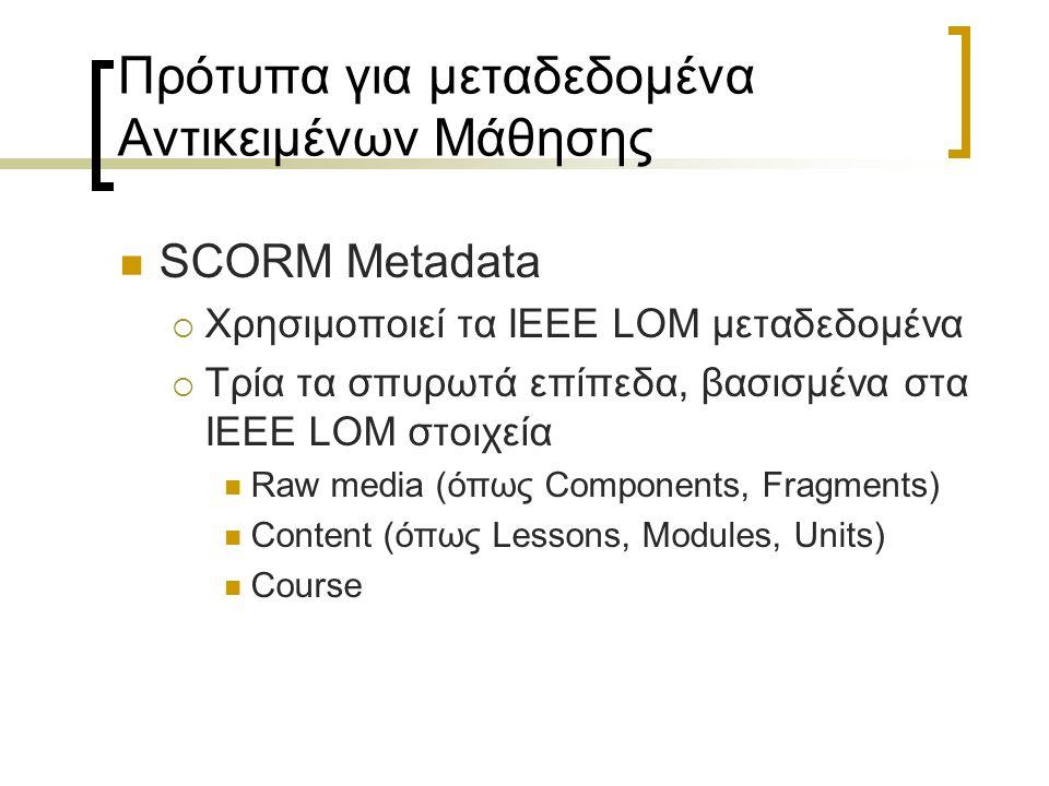 Πρότυπα για μεταδεδομένα Αντικειμένων Μάθησης