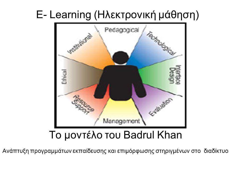 E- Learning (Ηλεκτρονική μάθηση)