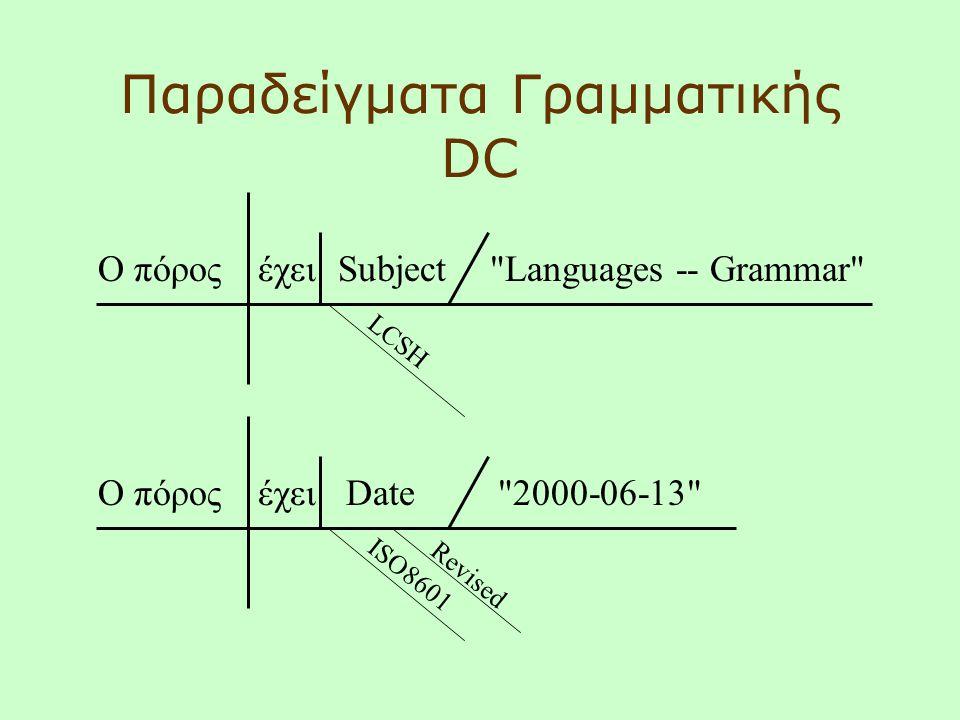 Παραδείγματα Γραμματικής DC