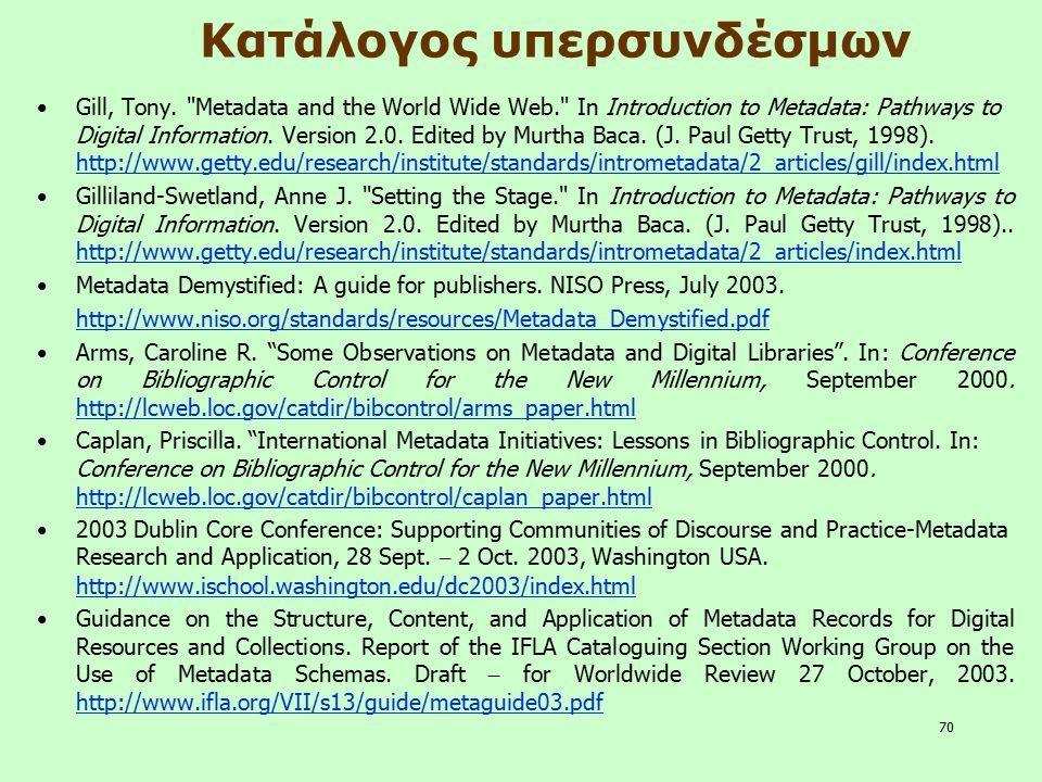 Κατάλογος υπερσυνδέσμων