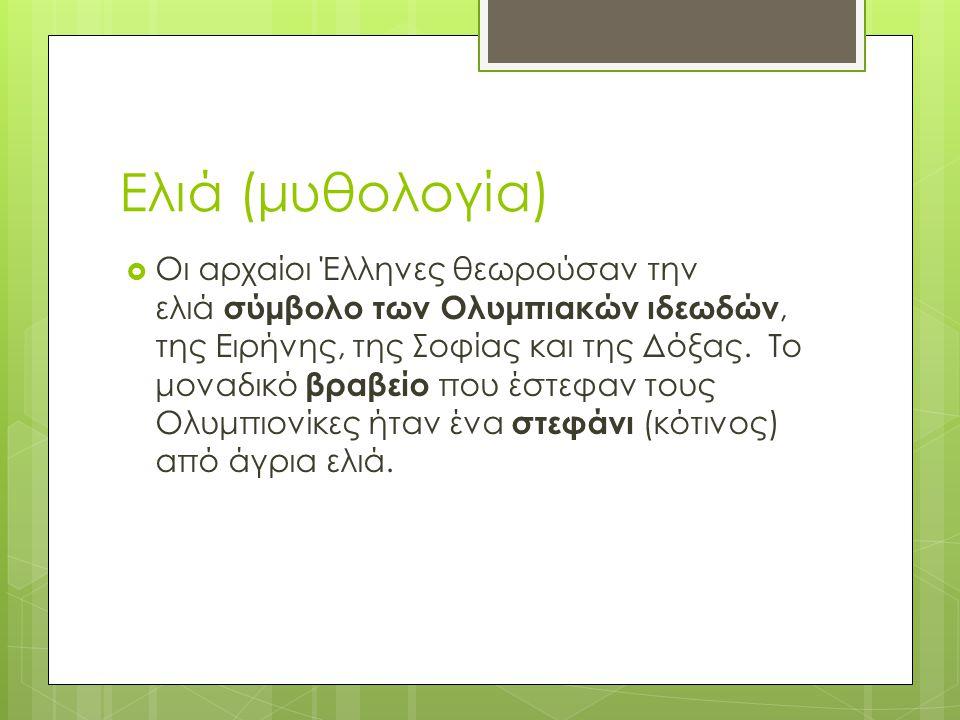 Ελιά (μυθολογία)