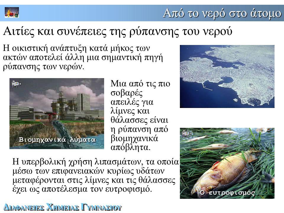 Αιτίες και συνέπειες της ρύπανσης του νερού