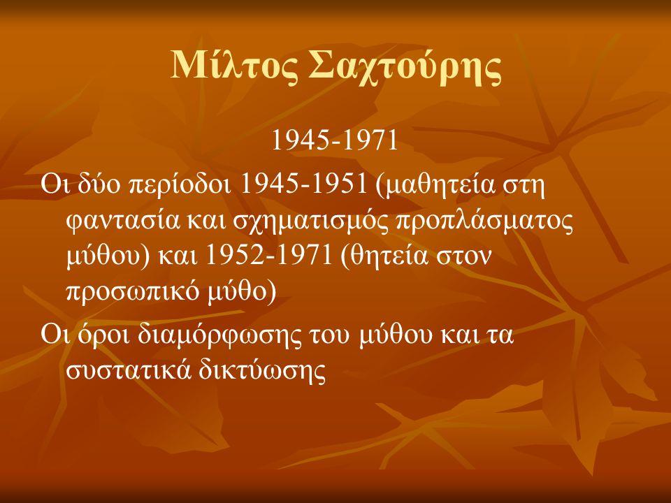 Μίλτος Σαχτούρης 1945-1971.