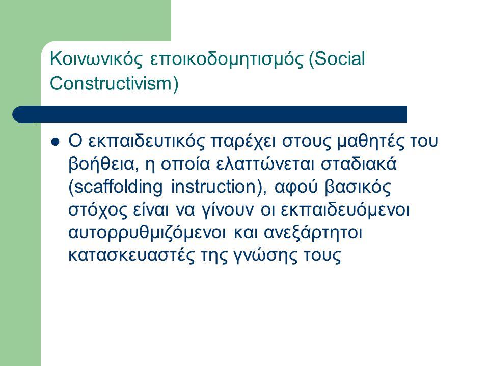Κοινωνικός εποικοδομητισμός (Social Constructivism)