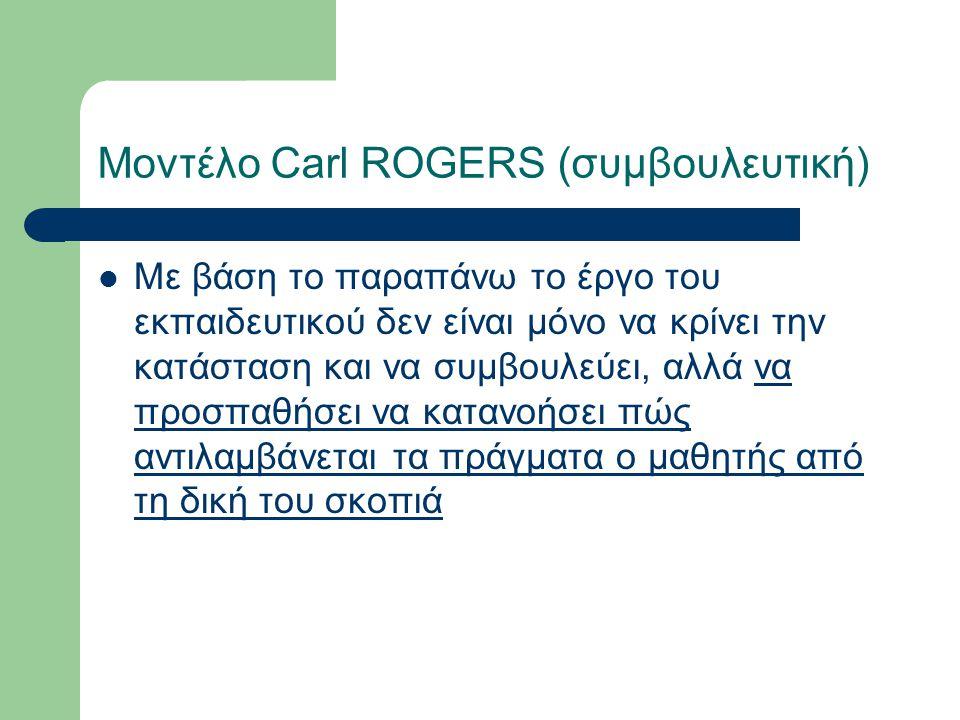 Μοντέλο Carl ROGERS (συμβουλευτική)