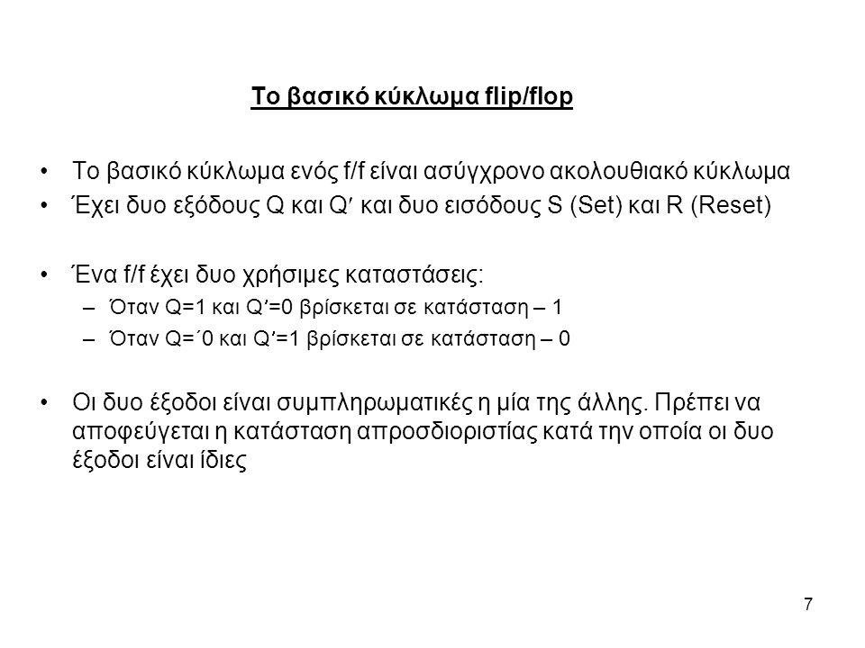 Το βασικό κύκλωμα flip/flop