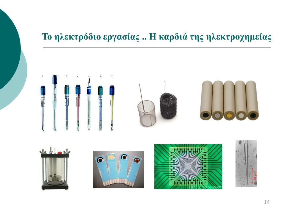 Το ηλεκτρόδιο εργασίας .. Η καρδιά της ηλεκτροχημείας