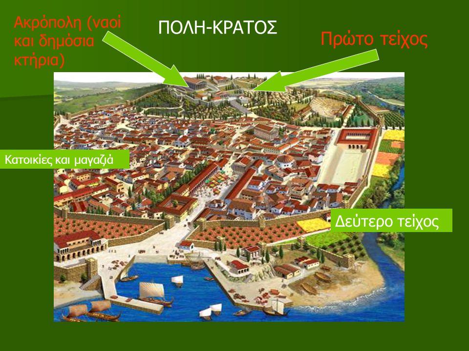 ΠΟΛΗ-ΚΡΑΤΟΣ Πρώτο τείχος Ακρόπολη (ναοί και δημόσια κτήρια)