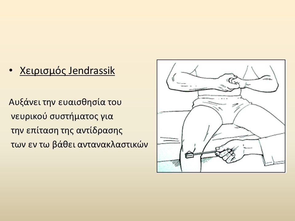 Χειρισμός Jendrassik Αυξάνει την ευαισθησία του