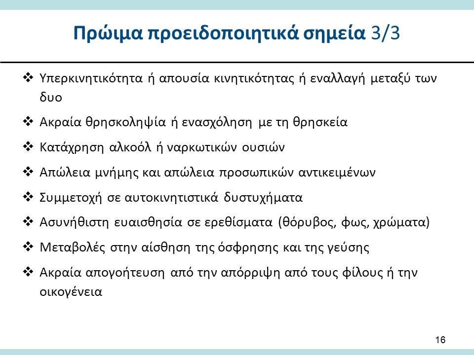 Πρώιμα προειδοποιητικά σημεία 3/3
