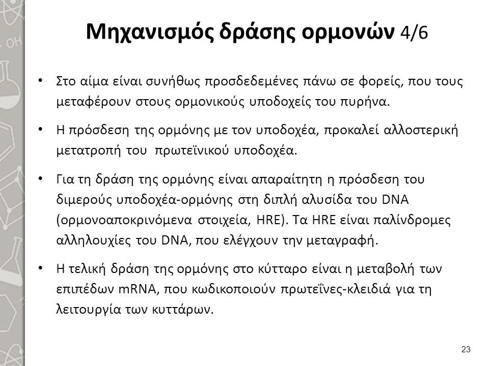Μηχανισμός δράσης ορμονών 5/6