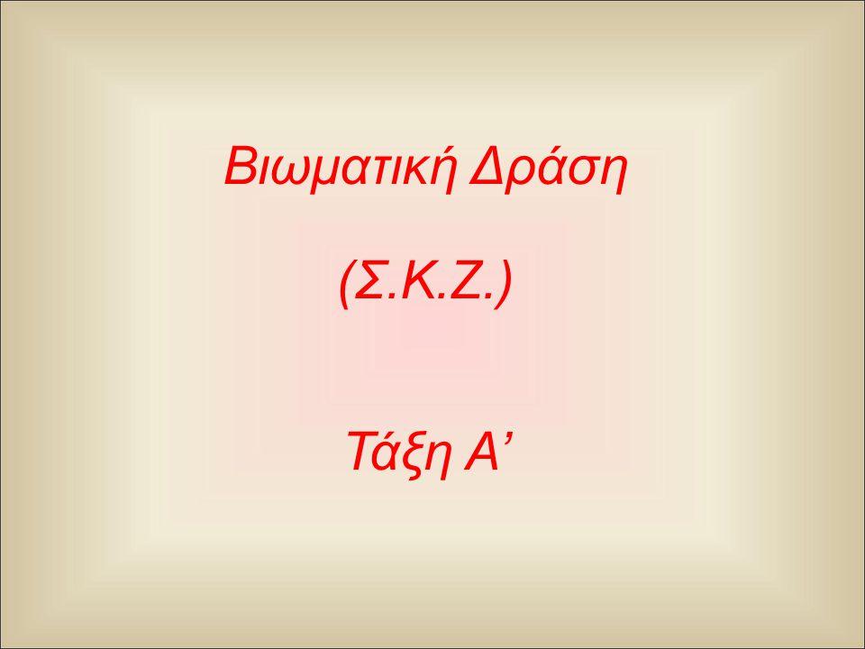 Βιωματική Δράση (Σ.Κ.Ζ.) Τάξη A'