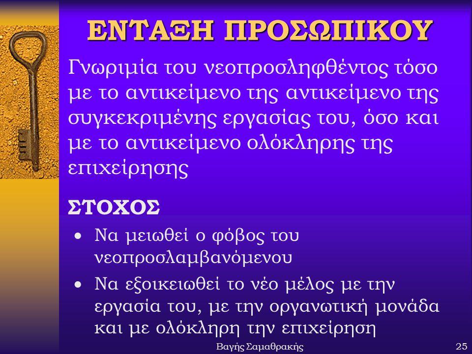 ΕΝΤΑΞΗ ΠΡΟΣΩΠΙΚΟΥ