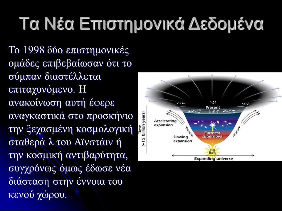 Τα Νέα Επιστημονικά Δεδομένα