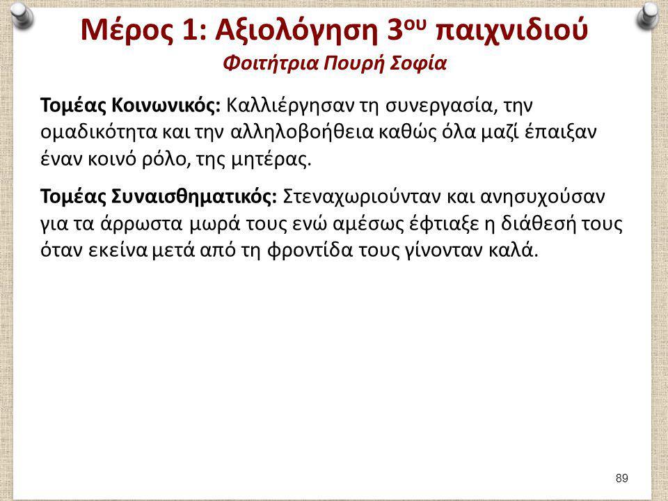 Μέρος 1: Καταγραφή 4ου παιχνιδιού Φοιτήτρια Πουρή Σοφία
