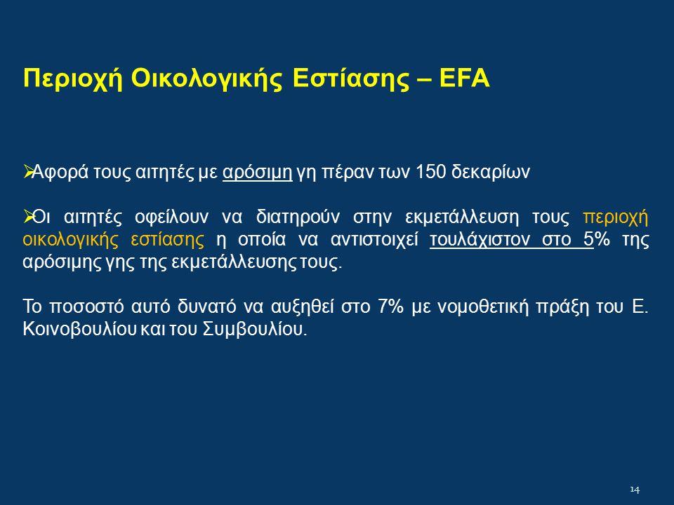 Περιοχή Οικολογικής Εστίασης – EFA