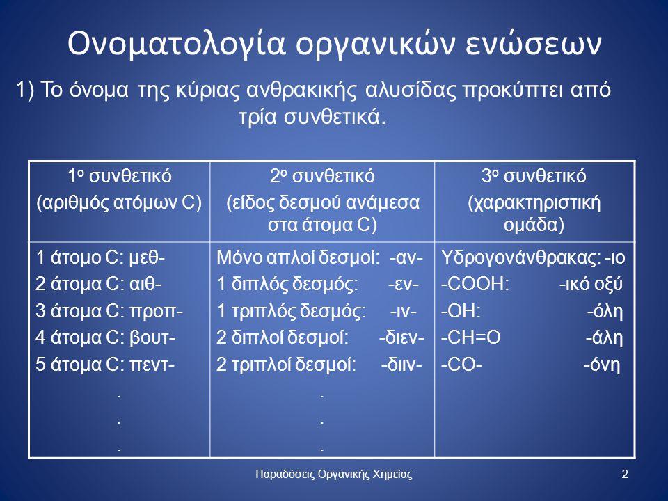 Ονοματολογία οργανικών ενώσεων