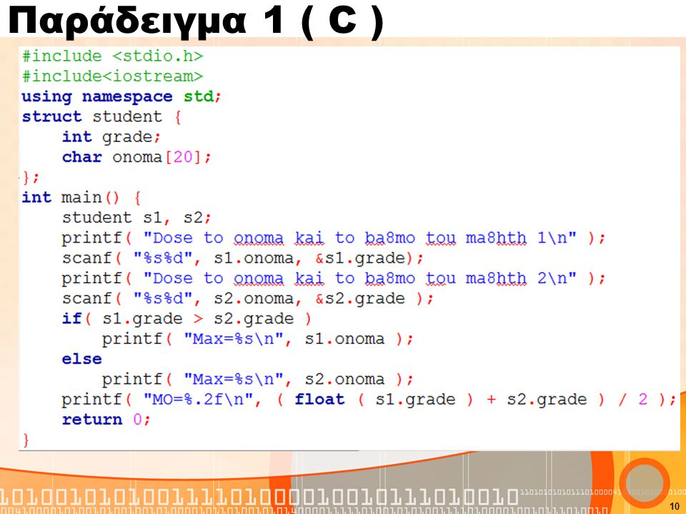 Παράδειγμα 1 ( C )