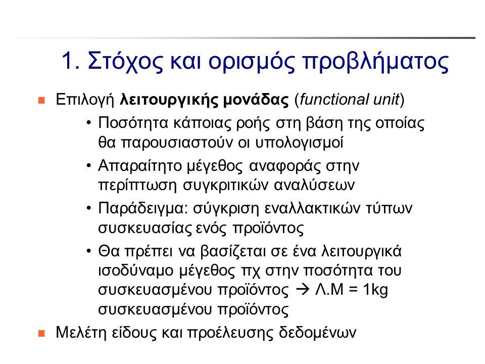 1. Στόχος και ορισμός προβλήματος